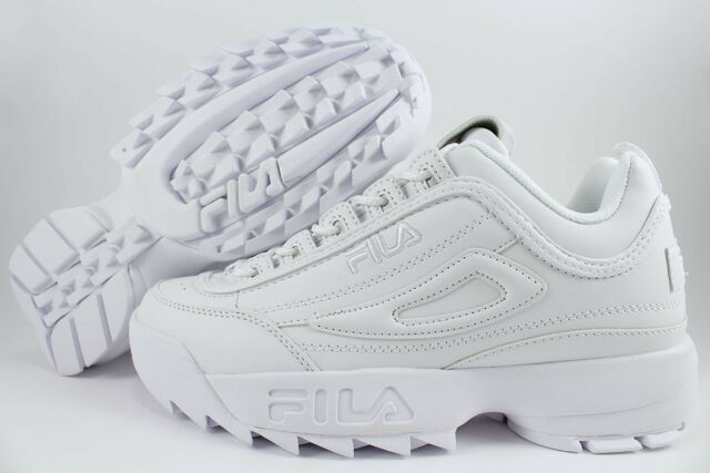 all white fila