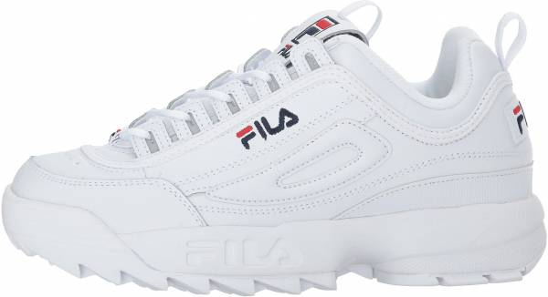 all white filas