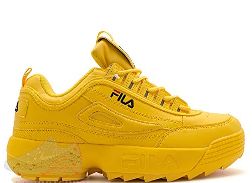 yellow fila shoes